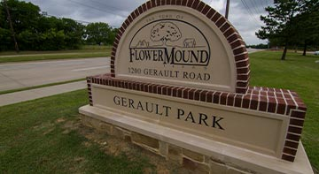 Flower Mound Tx town sign